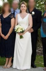 Beautiful ivory wedding dress by Bella Donna