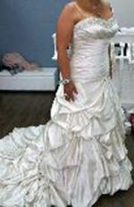 Beautiful Satin Strapless Wedding Dress by Essense of Australia