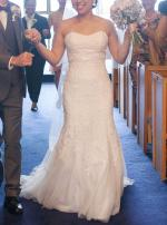 Mia Solano Ivory Lace and Tuile wedding gown