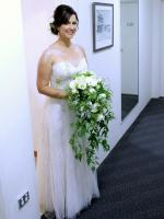 Beautiful Strapless Sweetheart Neckline Wedding Gown