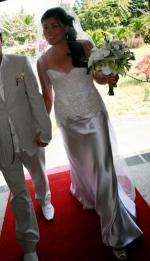 Zanzis Couture Wedding Gown Size 10