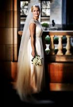 Empire Lace Wedding Dress  Custom Made