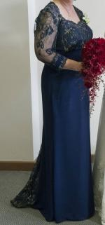 Elegant Mother of the Bride Navy Dress by Landa