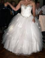 Beautiful Strapless Tulle Princess Handmade Wedding Gown
