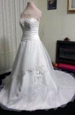 Gorgeous Beaded A-Line Wedding Dress by Mancini