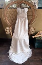 New Strapless BoHo Style Lace Wedding Dress Never Worn