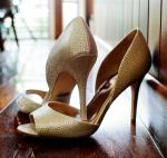 Size 9 Badgley Mischka 'Mitzi' Satin d'Orsay Heels in ivory colour