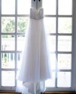 Beautiful Strapless Tulle Wedding Dress