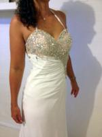 Glamorous beaded strapless gown