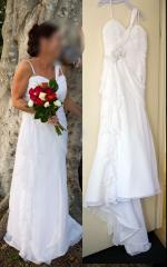 Beautiful, figure complimentary wedding dress by Alfred Angelo