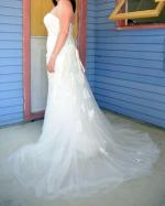 Stunning Lace Dress with Removable Train by Brides Desire