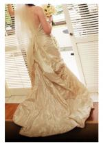 Stunning Champagne Wedding Dress by Rembo Styling