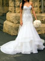 Custom Beaded French Lace Annette of Melbourne Gown