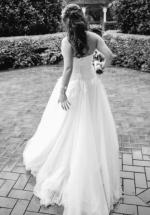 **Make An Offer **Custom Made Strapless Ivory Coloured Dress - Size 10-12
