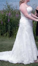 Nicolina Exquisite Ivory lace and beaded wedding gown