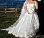 Gorgeous Sweetheart Strapless Pronovias Wedding Gown Size 18