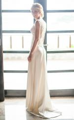 Donna Tobin Couture Low Back Silk Wedding Dress