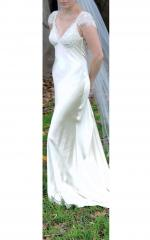Pallas Couture Low Back Wedding Gown