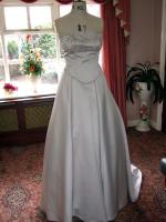 Silver Wedding Dress Two Piece Strapless