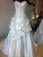 Stunning Handmade Swarovski Crystal Beaded Wedding Gown by Roz La Kelin