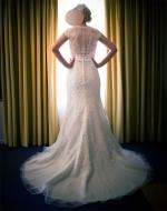 Flattering wedding dress by Madison James