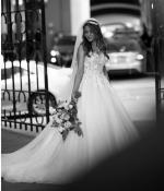 Beautiful Applique Wedding Dress by Pronovias
