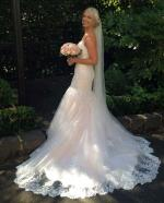 Stunning Maggie Sottero  'Marianne' Ivory on Blush Wedding Dress