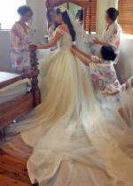 Stunning Traditional off the shoulder wedding dress by Suzanna Blazevic