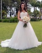 Stunning strapless princess bridal gown by Ella Rosa - BE230 Ivory/Cafe