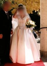 PRINCESS WEDDING DRESS DUCHESS SATIN INC FULL LENGTH VEIL