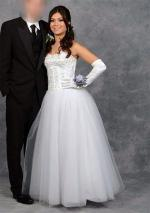Stunning White Strapless Debutante/Wedding Dress