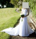 Maggie Sottero 'Gabbi' Wedding Gown, strapless with train