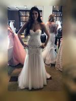 Beautifull strapless wedding/formal/deb dress by Jannifer Wu