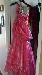 Coral Pink strapless formal dress