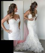 Elegant Strapless Lazaro Patrice Wedding Gown