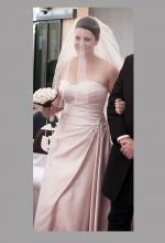 Champagne coloured strapless wedding gown Brides Desire by Airs & Graces