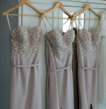 Two x 3D Lace Bridesmaid Dresses