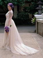Forever Mine Bridal wedding dress with detachable skir