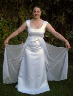 One Off Hand Made Stunning and Unique Wedding Dress With Hand Painted Butterflies
